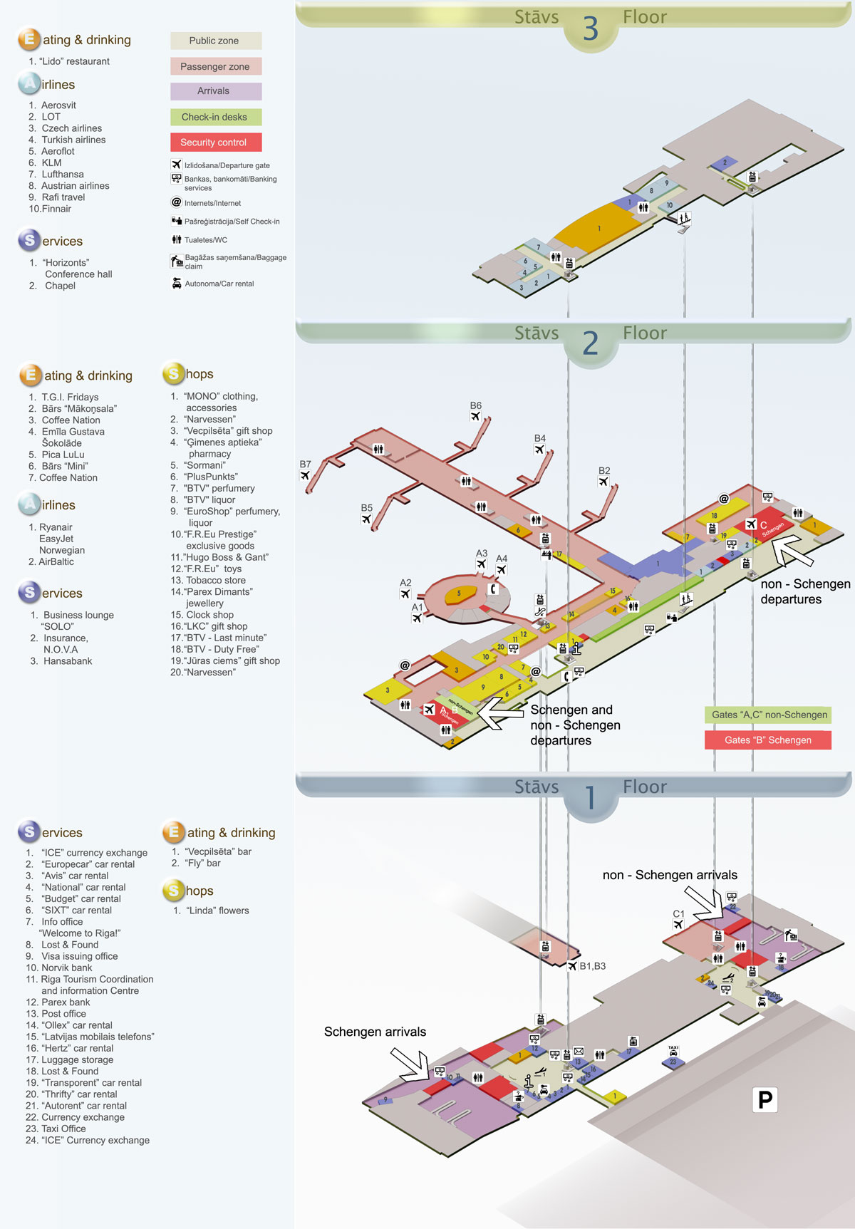 Riga international airport airport layouts of latvia - Planning and design of airports pdf ...