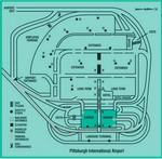 Parking scheme of Pittsburgh International Airport