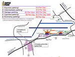 Parking scheme of Lambert St. Louis International Airport