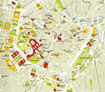 Map of central part of Vienna