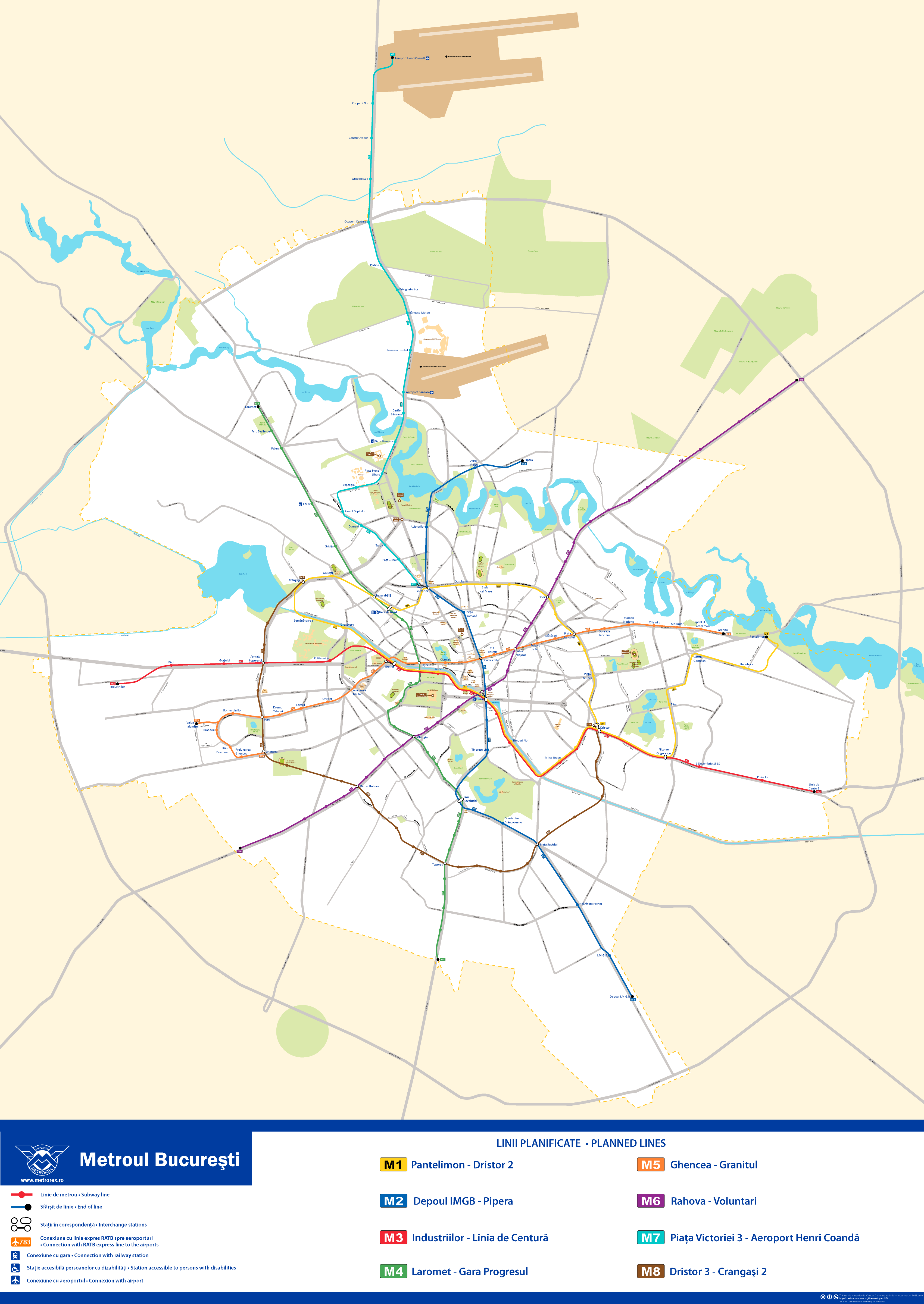 Metro map of Bucharest
