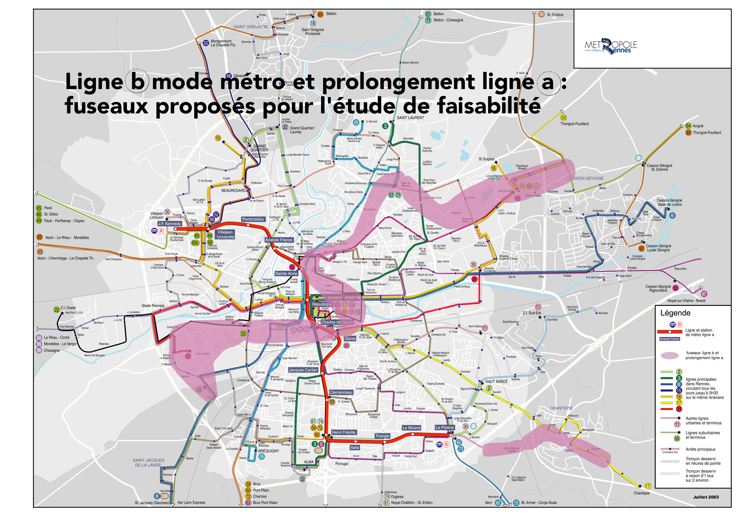 Map Of France Rennes.Metro Map Of Rennes Metro Maps Of France Planetolog Com