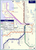 Metro map of Adelaide