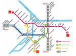 Metro map of Belgrade
