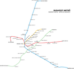 Metro map of Budapest