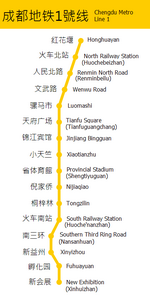 Metro map of Chengdu