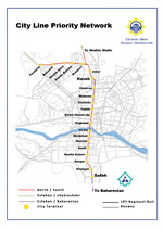 Metro map of Isfahan