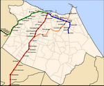 Metro map of Fortaleza