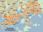 Metro map of Helsinki