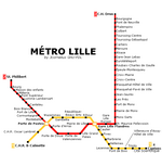 Metro map of Lille