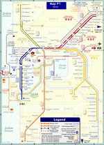 Metro map of Perth