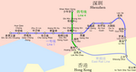 Metro map of Shenzhen