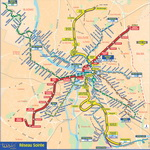 Metro map of Toulouse
