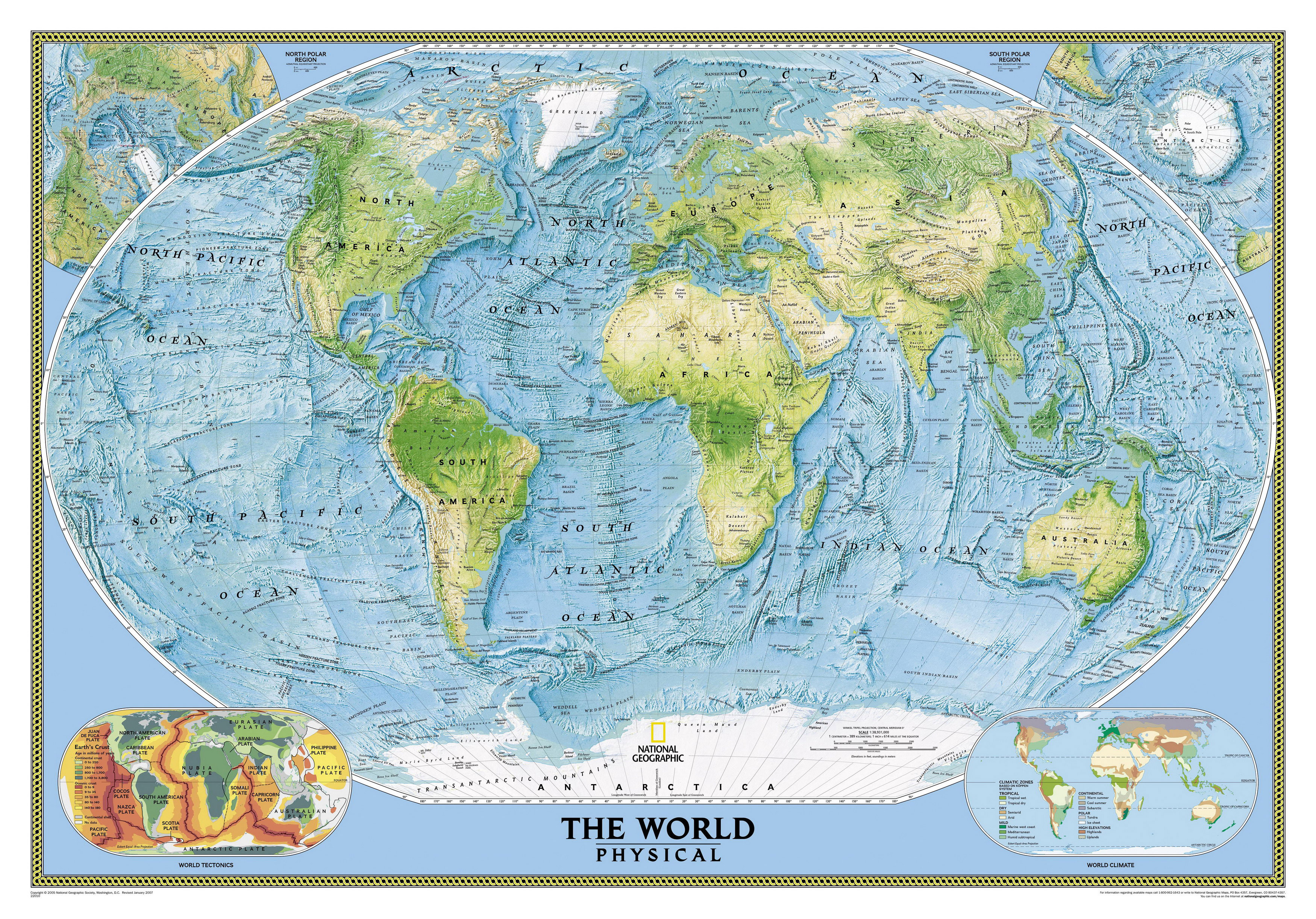 Phisical map of the Earth
