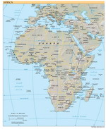 Geographic map of Africa