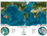 Map of topography of the oceans