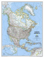 Map of countries of North America