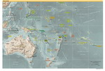Geographic map of Australia and Oceania