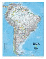 Map of countries of South America