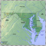 Map of relief of Maryland