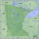 Map of relief of Minnesota