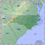 Map of relief of North Carolina