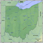 Map of relief of Ohio